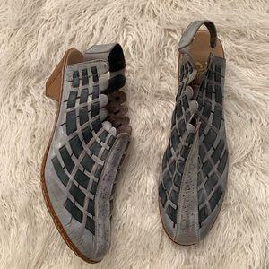Rieker Weaver Grey Boots Women's Size 42